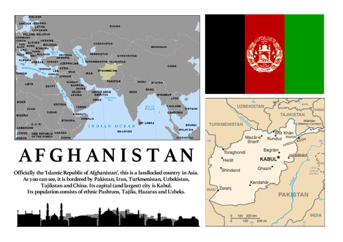 The Kite Runner: Afghanistan Map & Introduction