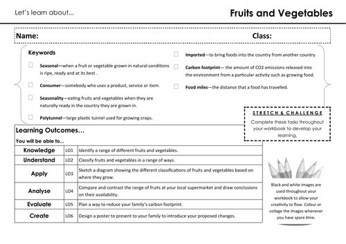 Lets Learn About... Fruits and Vegetables