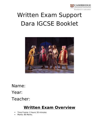 Dara IGCSE Drama 2019-2020 Student work booklet