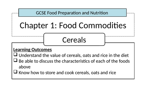 Food Commodities - Cereals