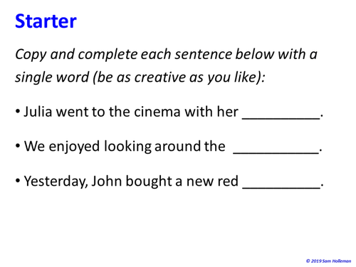 Nouns - complete lesson with worksheets (with extracts from A Christmas Carol and The Wizard of Oz)