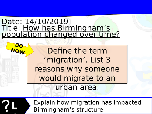 Changing Cities Lesson 5 - Geography Edexcel A