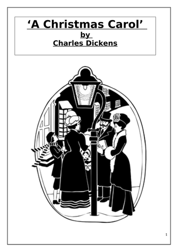 'A Christmas Carol' (Charles Dickens) 14 Extracts with Comprehension Questions