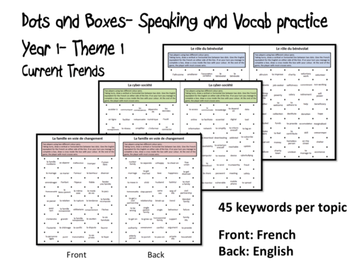 Dots and Boxes- Year 1 Theme 1: Current Trends- A Level French