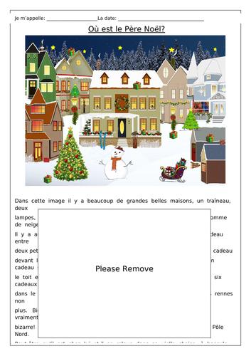 FRENCH - Noël - Où est Le Père Noël