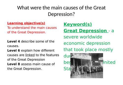 Edexcel iGCSE causes of the Great Depression
