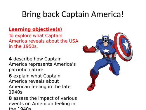 Bring back Captain America!