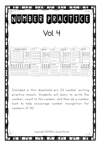 Number Bundle Practice 31-40