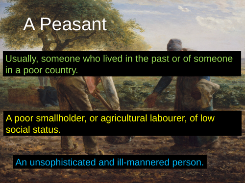 WJEC GCSE poetry 2021 - 'A Peasant' by RS Thomas PPT
