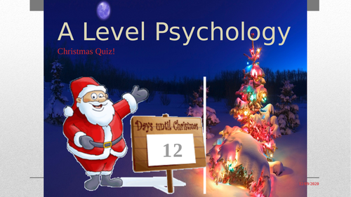 A Level Psychology Christmas Quiz