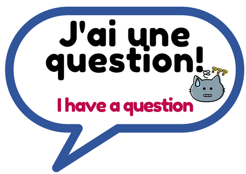 Student questions for classroom french