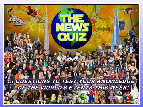 CURRENT WEEK The News Quiz 9th - 16th December 2019 Form Tutor Time Current Affairs