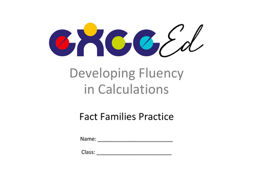 Fact Families - Addition Fluency (Free)