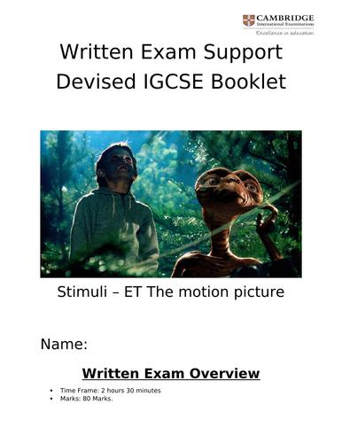 IGCSE Drama E.T Devised Booklet