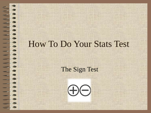 How to do the Sign Test