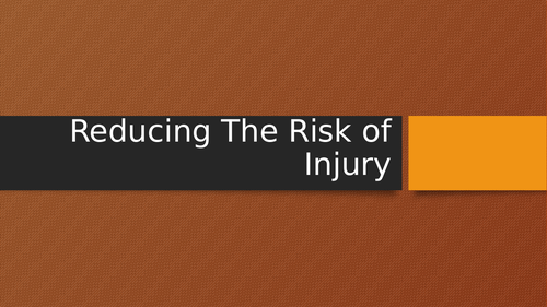 Sports Injuries - Reducing Risk and Responding to Injuries