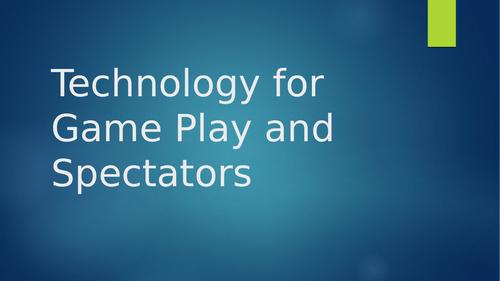 PE Technology for Spectators in Sport