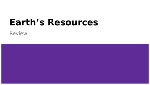 Earths Resources Presentation