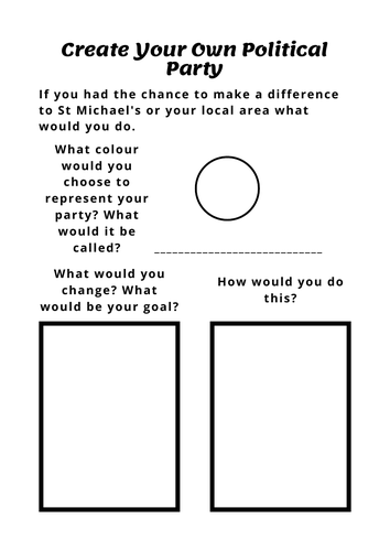 Create Your Own Political Party Resource