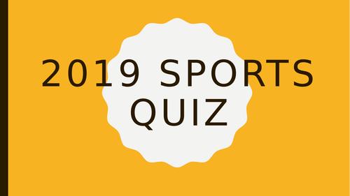 PE Sports 2019 Quiz