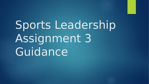 BTEC Sports Leadership Guide to Session Plans
