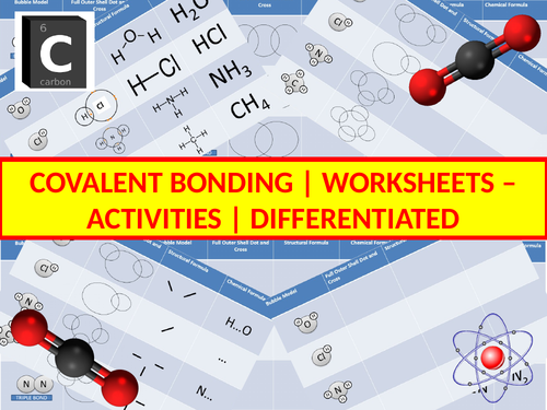 Covalent Bonding Activity Worksheets (Differentiated)