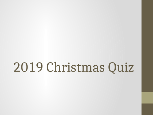 The Very Best 2019 Geography End of Term Quiz
