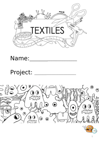 Textiles KS3 Jon Burgerman Project