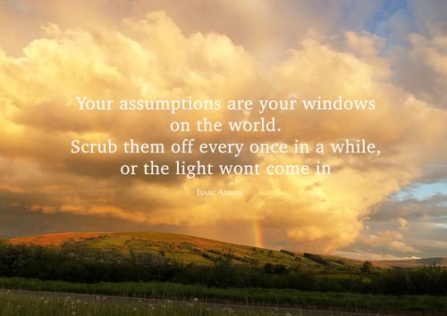 assumption quote A3 large downloadable poster