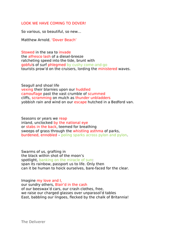 A-level poetry essay and revision   Daljit Nagra  and Tishani Doshi