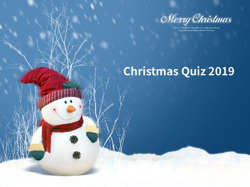 Christmas Quiz 2019