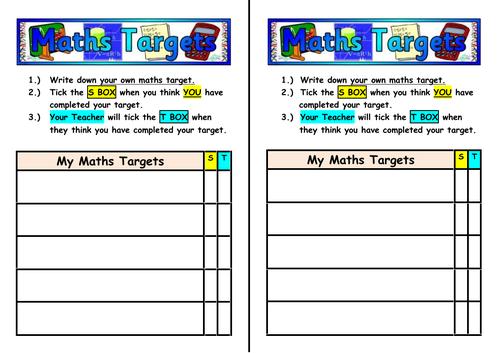 My Maths Targets