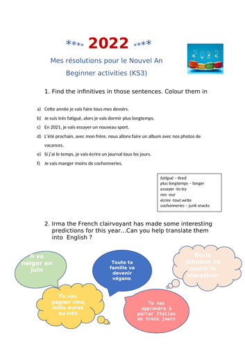 Résolutions nouvel an *beginner*