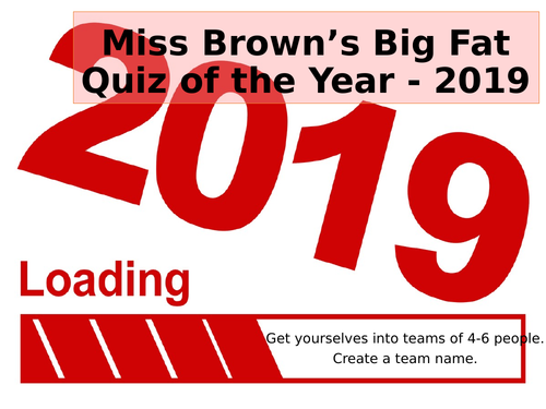 End of Year/Christmas Quiz