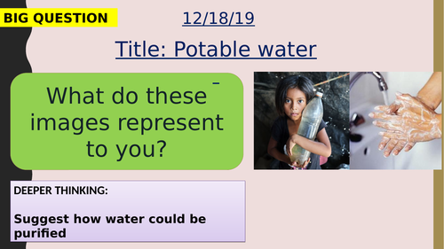 AQA new specification-Water safe to drink-C12.2