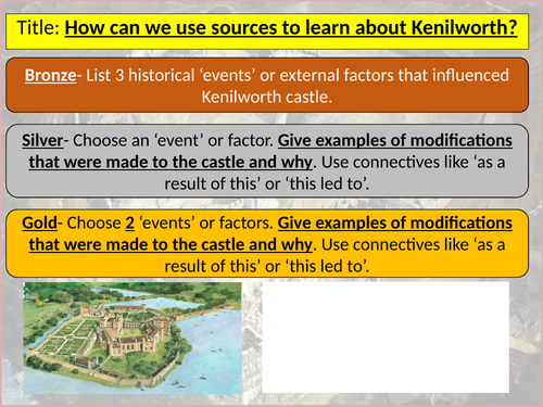 OCR Castles Form and Function Revision- Exam Style Questions