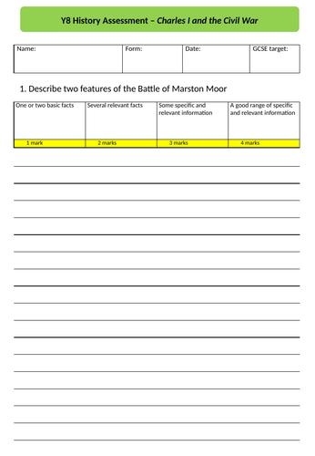 Charles I & the Civil War assessment