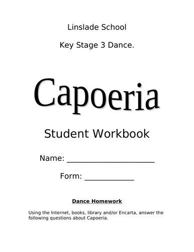 Capoeira Dance Booklet