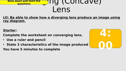 Concave Lens - Ray diagram