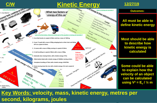 Kinetic Energy (Changes in Energy) | AQA P1 4.1 | New Spec 9-1 (2018)