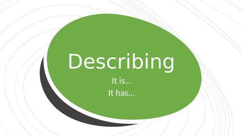 Descriptions describing class complete for ESL EAL language classes