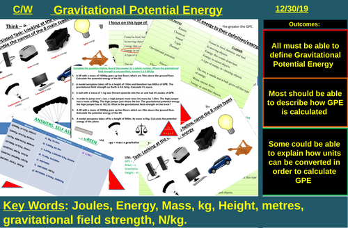 Gravitational Potential Energy (Changes in Energy) | AQA P1 4.1 | New Spec 9-1 (2018)