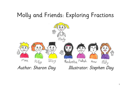 Molly's Maths for year 2 - exploring fractions