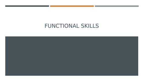 Functional Skills: New Year