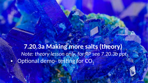 7.20.3 Making more salts (AQA 9-1 Synergy)