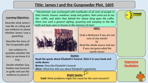 James I and the Gunpowder Plot 1605