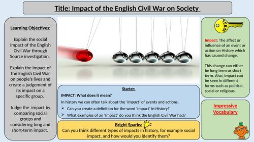 Impact of the English Civil War on Society