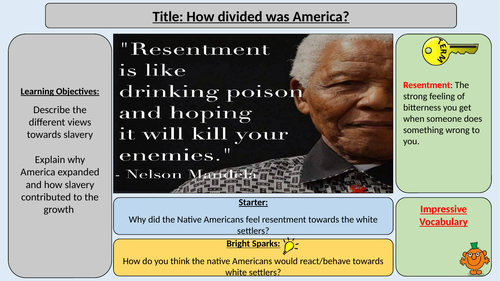 Divisions over Slavery - OCR J411 The Making of America