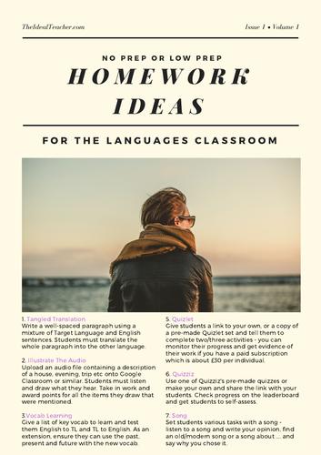 20 No-Prep Low-Prep Homework Ideas for MFL Lessons