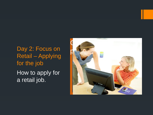 Day 2 - Apply for a retail job